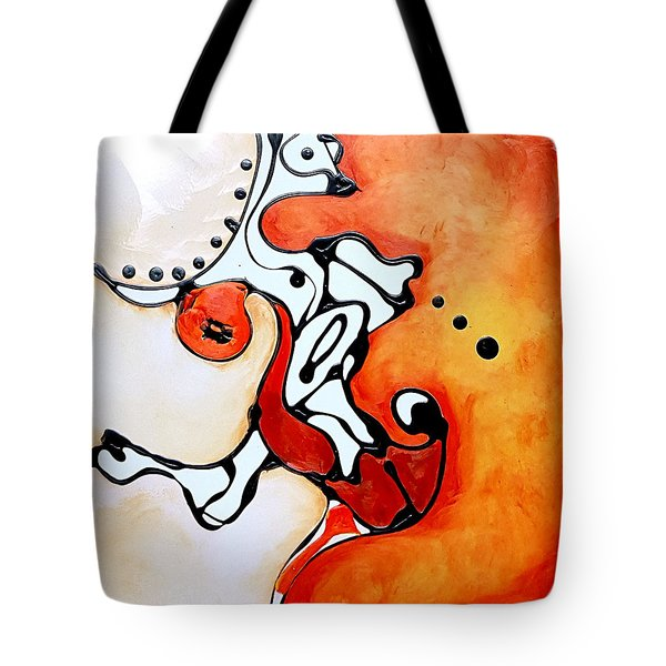Divided Sunset Tote Bag