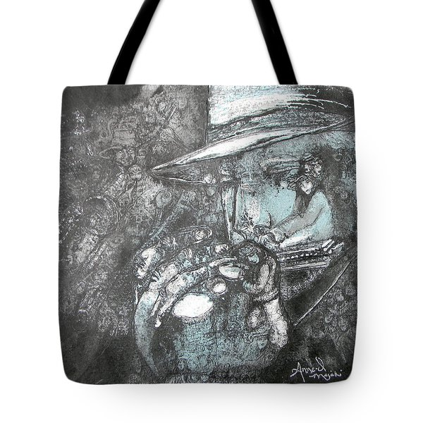 Divine Blues Tote Bag by Anne-D Mejaki - Art About You productions