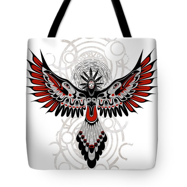 Divine Crow Woman Tote Bag