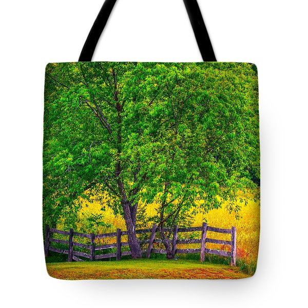 Tote Bag featuring the photograph Divine Fenceline by Brian Stevens