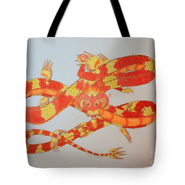 Divine Lung- Fire Tote Bag