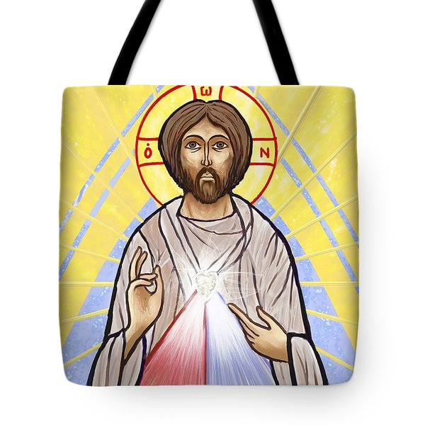 Divine Mercy Icon Style Tote Bag