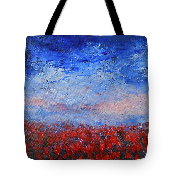 Tote Bag featuring the painting Divine Red by Jane See