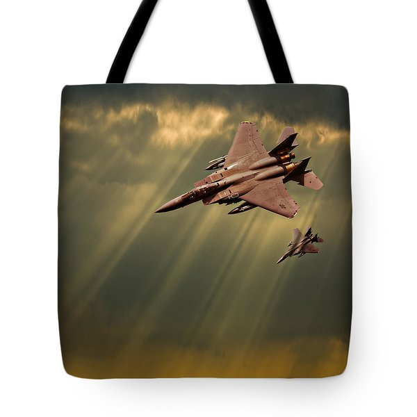 Diving Eagles Tote Bag by Meirion Matthias
