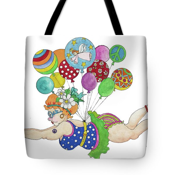 Tote Bag featuring the painting Diving For Coupons by Rosemary Aubut