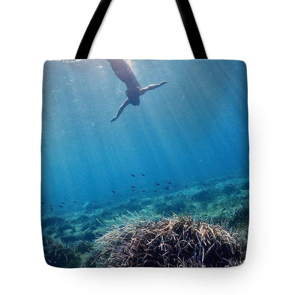 Diving Into The Unknown Tote Bag