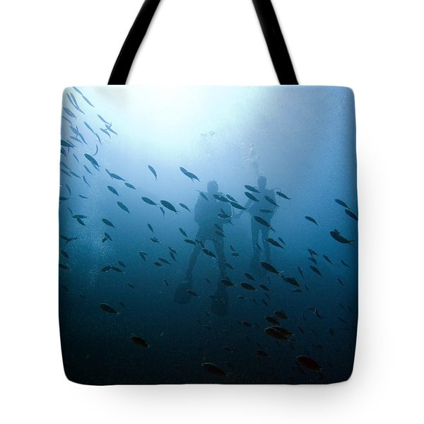 Diving With Fishes Tote Bag