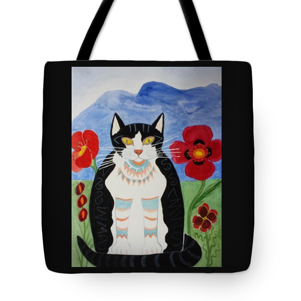 Diwali Tux Cat Tote Bag