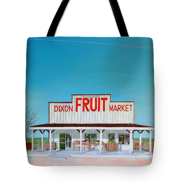 Dixon Fruit Market 1992 Tote Bag by Wingsdomain Art and Photography