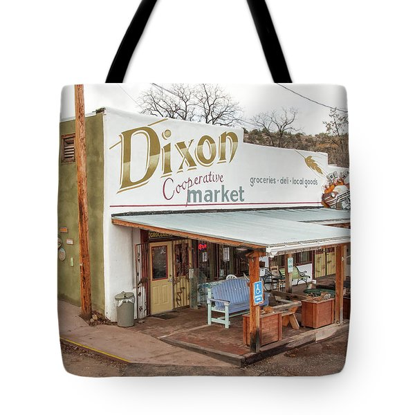 Tote Bag featuring the photograph Dixon Market, New Mexico by Britt Runyon