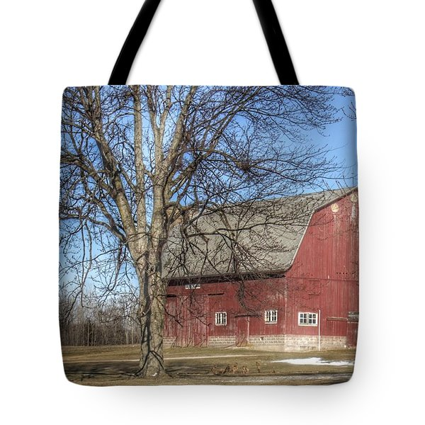 0010 - Dixon Road Red Tote Bag