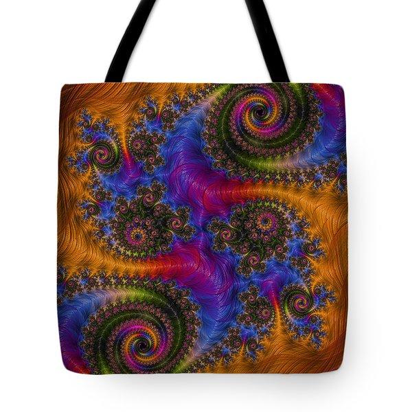 Dizzy Spirals Tote Bag