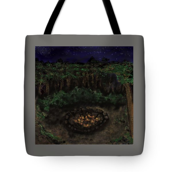 Dancing Naked In The Forest Back Cover Tote Bag