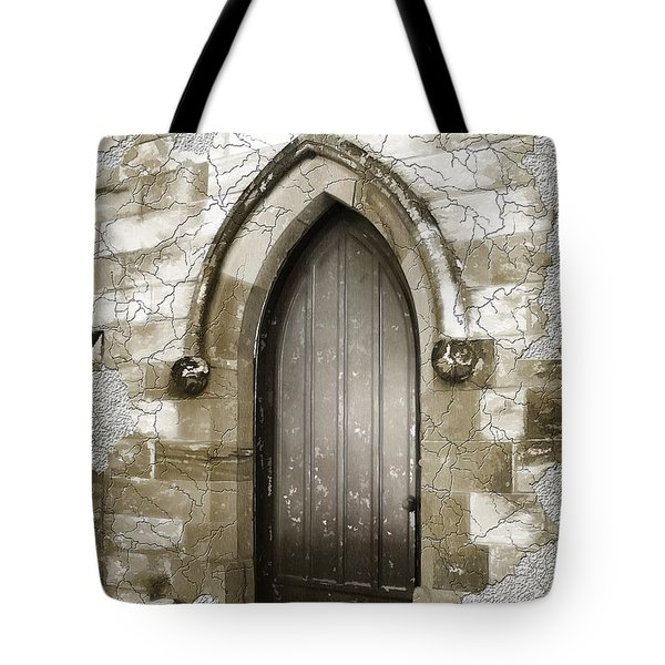 Tote Bag featuring the photograph Do-00055 Chapels Door In Morpeth Village by Digital Oil