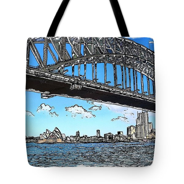 Tote Bag featuring the photograph Do-00058 Sydney Harbour Bridge And Opera House by Digital Oil