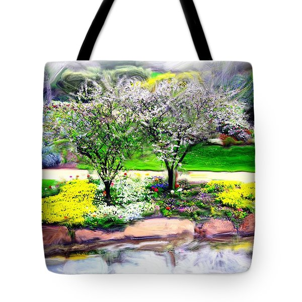 Tote Bag featuring the photograph Do-00066 Lake Walk by Digital Oil