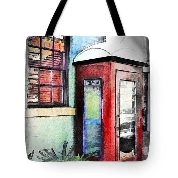 Do-00091 Telephone Booth In Morpeth Tote Bag by Digital Oil