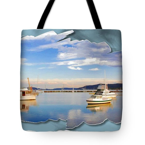 Tote Bag featuring the photograph Do-00115 Boats In Gosford by Digital Oil