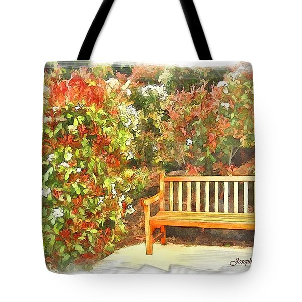 Tote Bag featuring the photograph Do-00122 Inviting Bench by Digital Oil