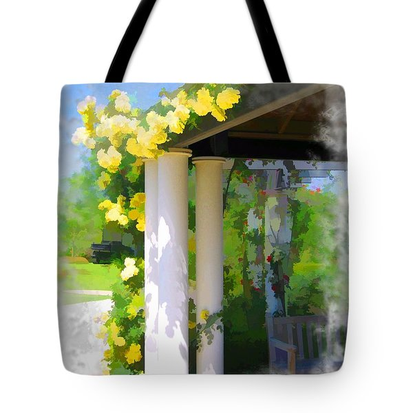 Tote Bag featuring the photograph Do-00137 Yellow Roses by Digital Oil