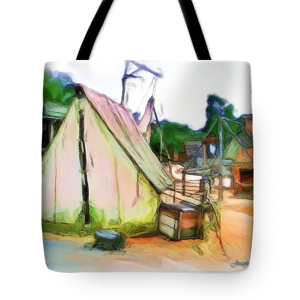 Tote Bag featuring the photograph Do-00139 Tent by Digital Oil