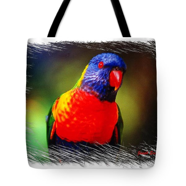 Do-00153 Colourful Lorikeet Tote Bag by Digital Oil