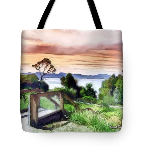 Do-00272 Look Out From Sarah Island Tote Bag by Digital Oil