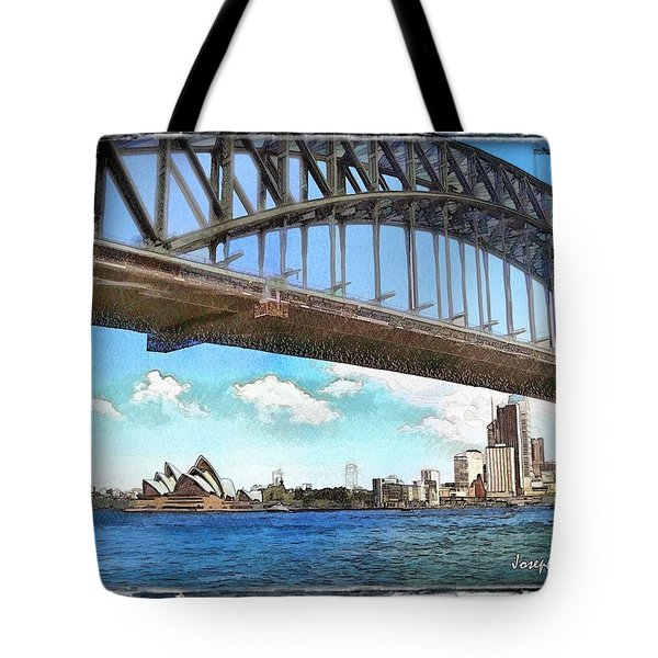 Tote Bag featuring the photograph Do-00284 Sydney Harbour Bridge And Opera House by Digital Oil
