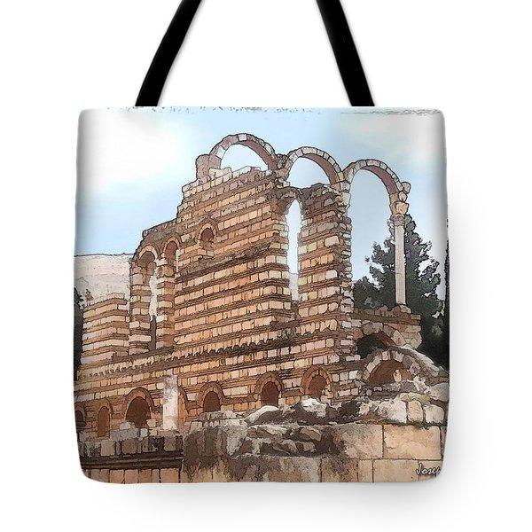 Do-00302 Ruins In Anjar Tote Bag