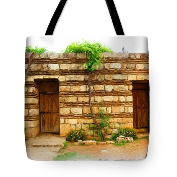 Tote Bag featuring the photograph Do-00305 Old Hutt In Anjar by Digital Oil