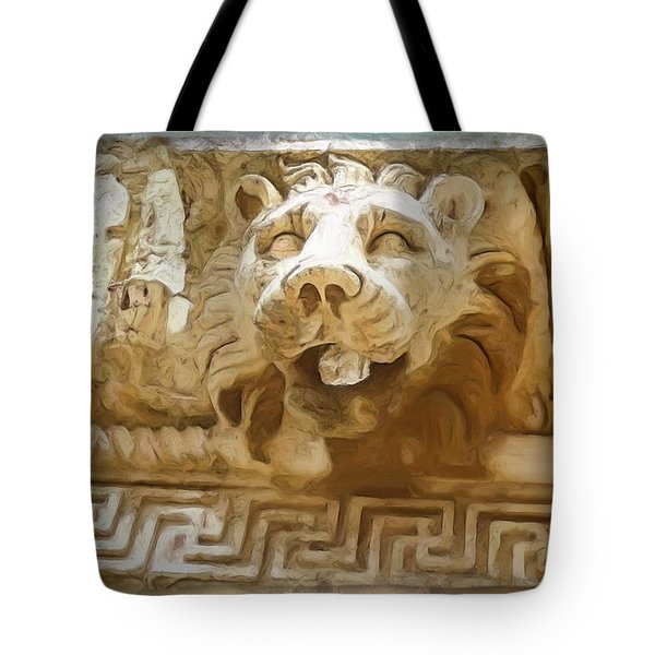 Do-00313 Lion Water Feature Tote Bag by Digital Oil