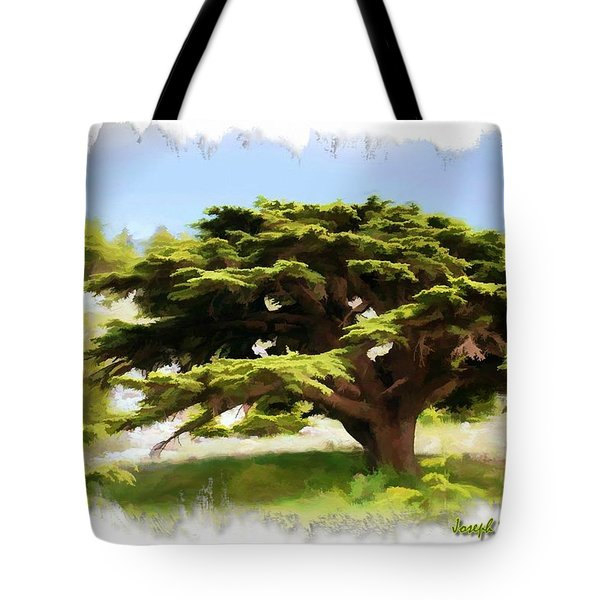 Do-00319 Cedar Tree Tote Bag