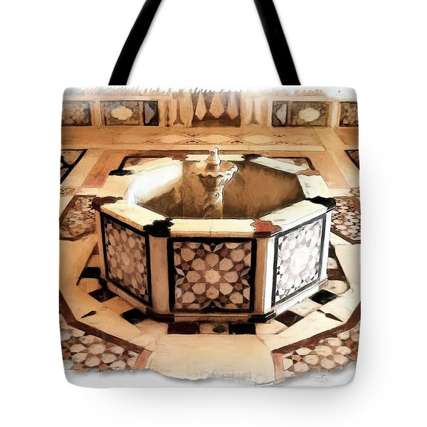 Tote Bag featuring the photograph Do-00323 Old Bath Fountain by Digital Oil