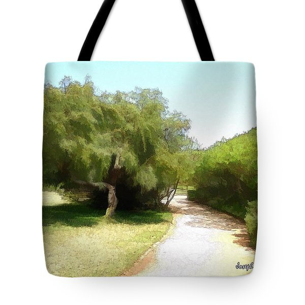Tote Bag featuring the photograph Do-00336 -pathway Bois Des Pins by Digital Oil