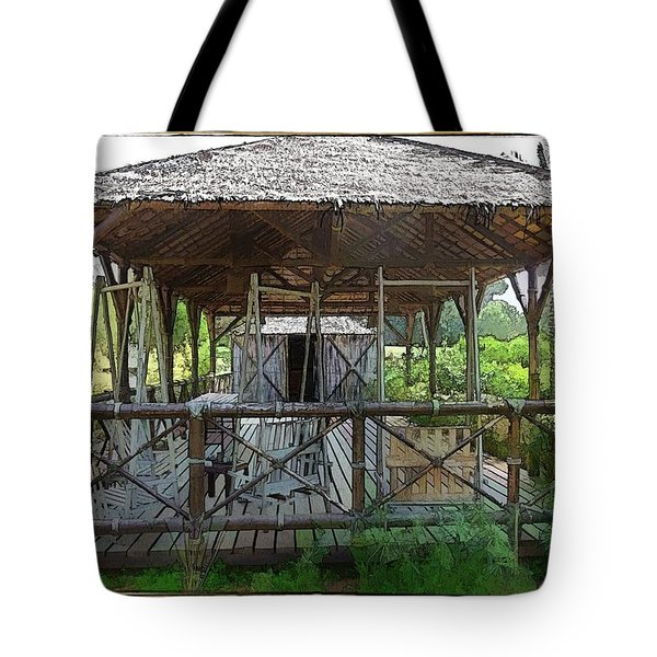 Tote Bag featuring the photograph Do-00341 Cabin Outdoor Bois Des Pins by Digital Oil