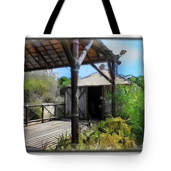 Tote Bag featuring the photograph Do-00342 Terrace Bois Des Pins by Digital Oil