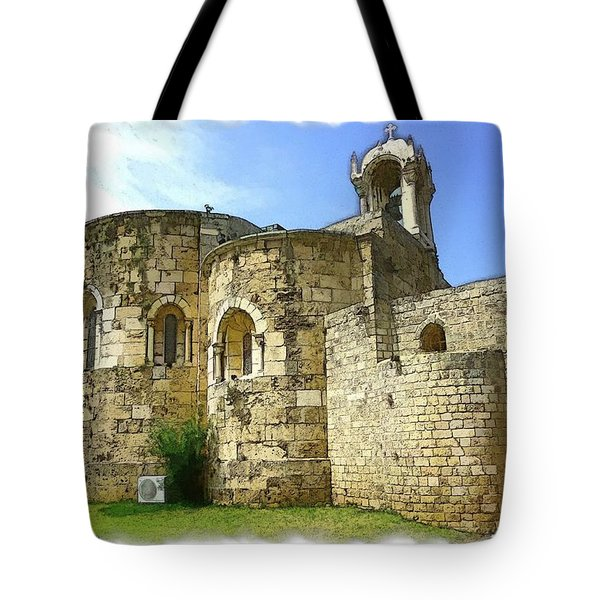 Do-00344 Church Of St John Marcus In Byblos Tote Bag by Digital Oil