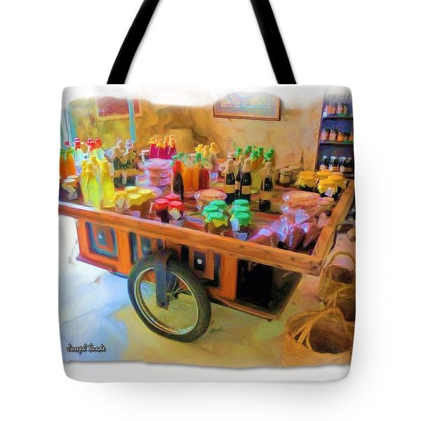 Tote Bag featuring the photograph Do-00391 Wheel Stand by Digital Oil