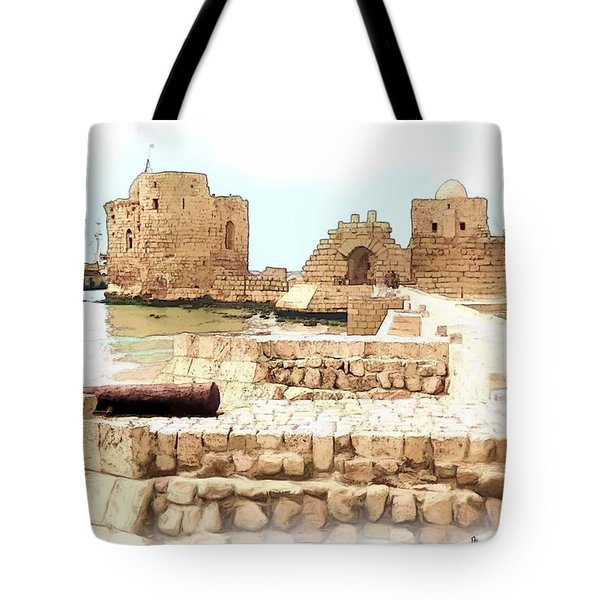 Do-00423 Citadel Of Sidon Tote Bag by Digital Oil