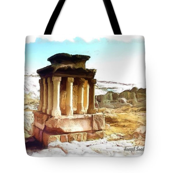 Do-00432 The Temple Of Faqra Tote Bag by Digital Oil