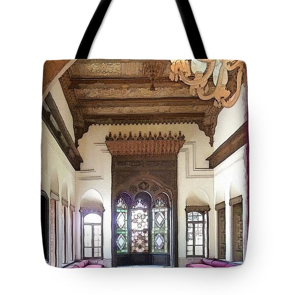 Do-00448 Reception Room At Beiteddine Tote Bag by Digital Oil