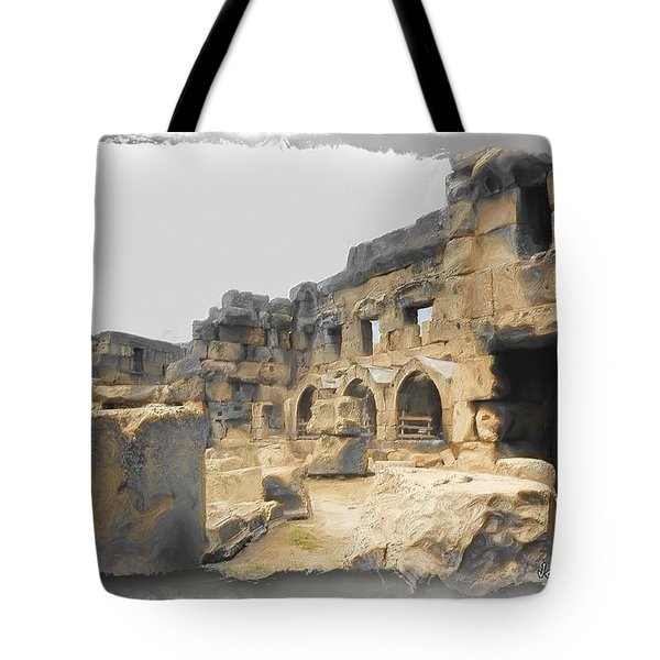 Tote Bag featuring the photograph Do-00452 Inside The Ruins by Digital Oil