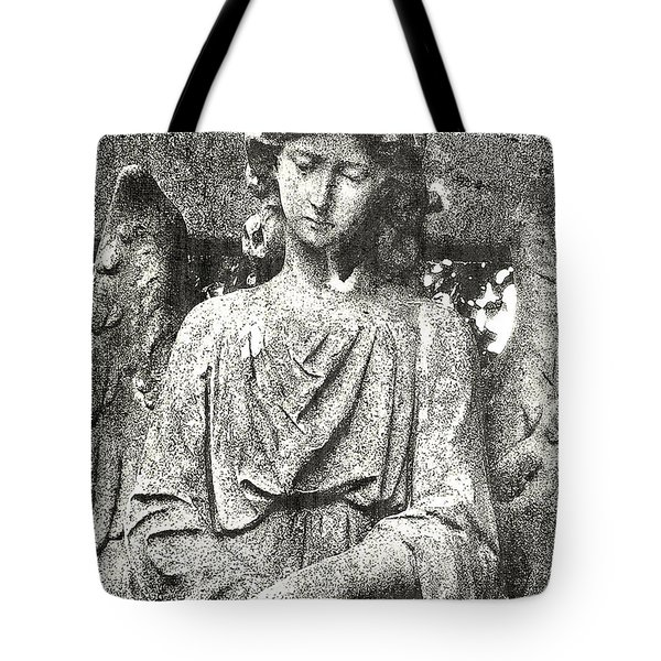 Tote Bag featuring the mixed media Do Angels Look Sad  by Fine Art By Andrew David