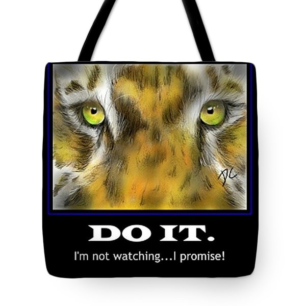Tote Bag featuring the digital art Do It Motivational by Darren Cannell
