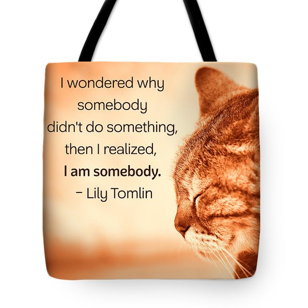 Do Something - Orange Cat Tote Bag