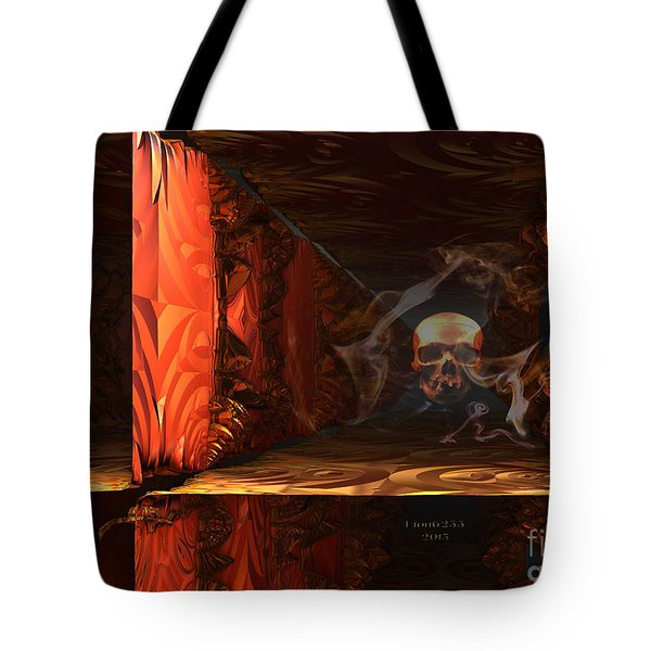 Tote Bag featuring the digital art Do You Believe In Ghosts? by Melissa Messick