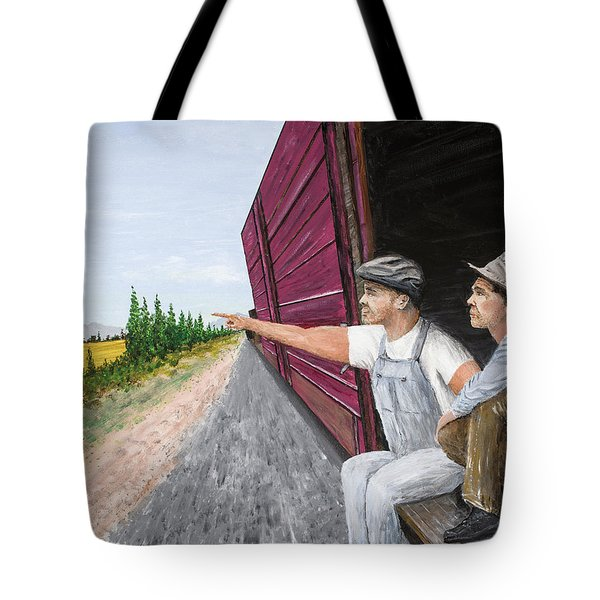 Tote Bag featuring the painting Do You Think They Have Rabbits by Kevin Daly