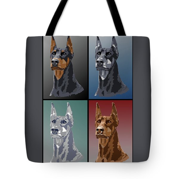 Doberman Colors Tote Bag