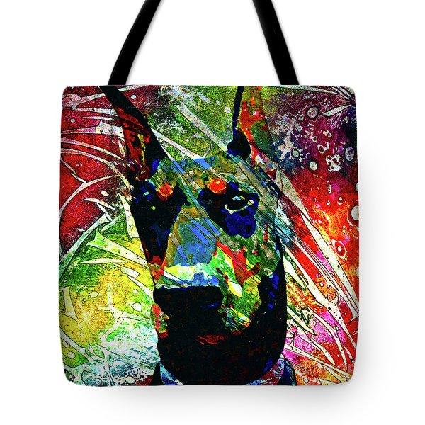 Doberman Custom Portrait Tote Bag