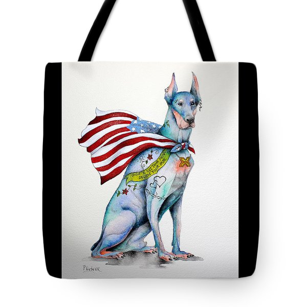 Doberman Napolean Tote Bag